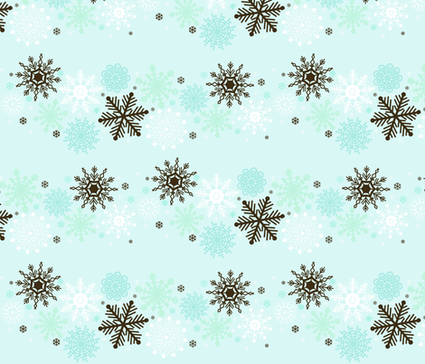 Midnight Snow fabric by graceful on Spoonflower - custom fabric