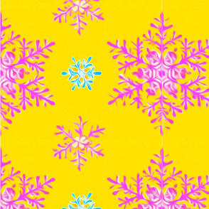 best_snowflake_pattern_orange_background