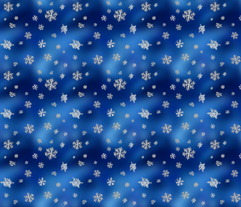 Snowflakes fabric by the_fretful_porpentine on Spoonflower - custom fabric