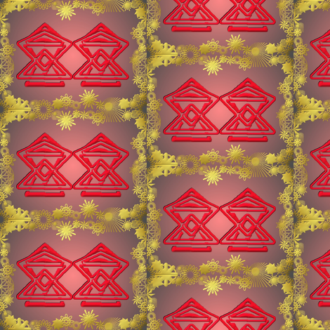 red tents fabric by y-knot_designs on Spoonflower - custom fabric