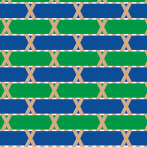 basket weave 1 - blue and green