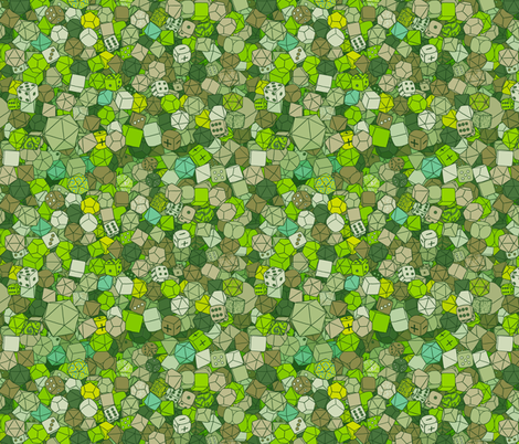 Dice Galore - Forest fabric by pi-ratical on Spoonflower - custom fabric