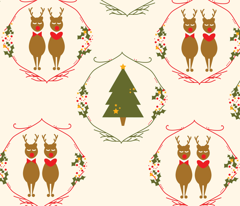 christmas-01 fabric by azaliamusa on Spoonflower - custom fabric