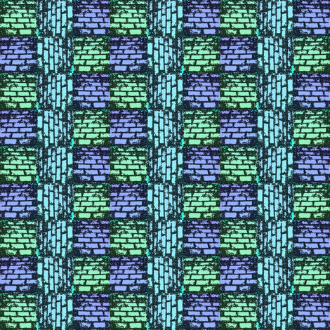 blue bricks fabric by y-knot_designs on Spoonflower - custom fabric