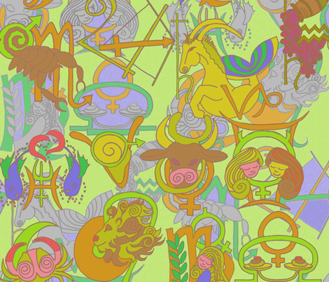 zodiac_citrus fabric by wiccked on Spoonflower - custom fabric