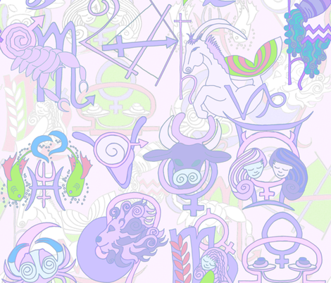 zodiac_fresh fabric by wiccked on Spoonflower - custom fabric