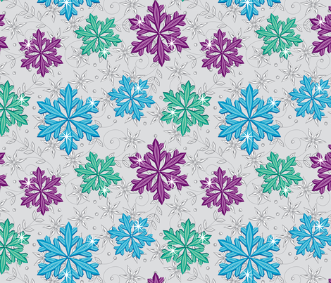 Vintage Snowflakes fabric by cjldesigns on Spoonflower - custom fabric