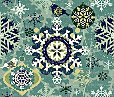 snowflakes in garden