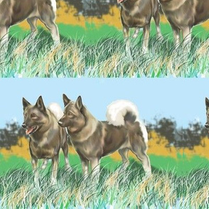Norwegian Elkhounds 3 fabric