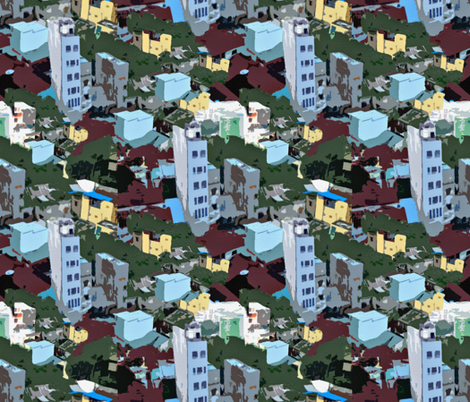 Ho Chi Minh City fabric by anniedeb on Spoonflower - custom fabric
