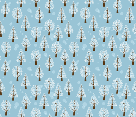 snowflake_forest fabric by maeli on Spoonflower - custom fabric