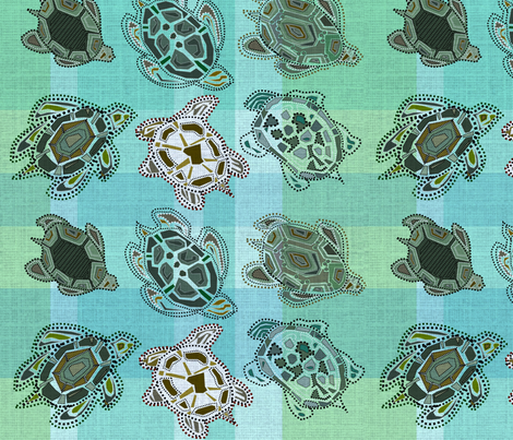 Turtle Time Plaid fabric by shellyaloha on Spoonflower - custom fabric