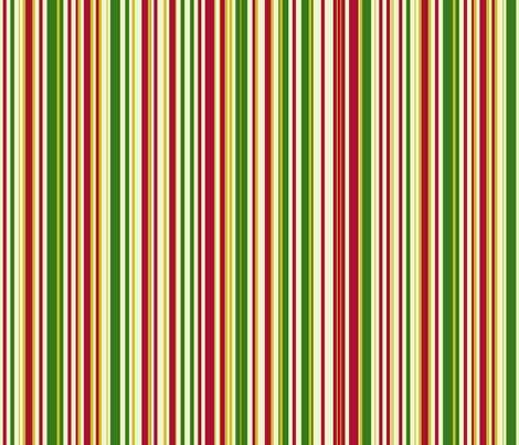 Red Green & Gold Christmas fabric by muddyfur on Spoonflower - custom fabric