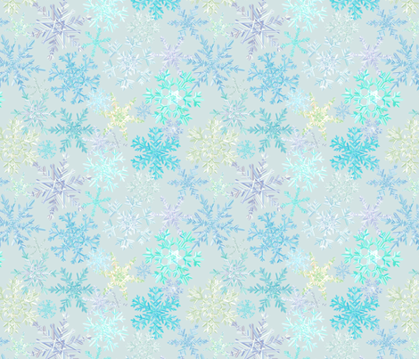 snowflakes - icy colorway fabric by ravynka on Spoonflower - custom fabric