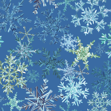 snowflakes - blue colorway fabric by ravynka on Spoonflower - custom fabric