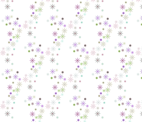 Festive Snow Flakes on White fabric by yewtree on Spoonflower - custom fabric