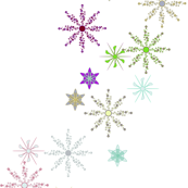 Festive Snow Flakes on White