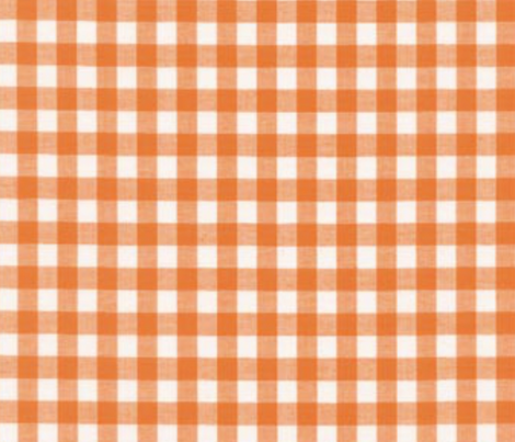 ORANGE GROVE GINGHAM fabric by bluevelvet on Spoonflower - custom fabric