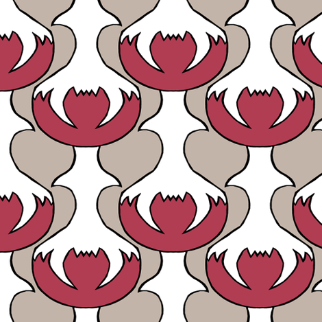 Abstract Carnivore fabric by pond_ripple on Spoonflower - custom fabric