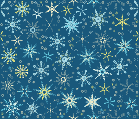 Snowflakes1 fabric by paula's_designs on Spoonflower - custom fabric