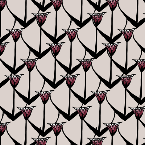 Lotus on Papyrus fabric by pond_ripple on Spoonflower - custom fabric