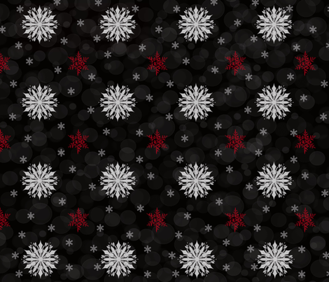 sophisticated_snowflake fabric by buttersbeau on Spoonflower - custom fabric