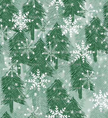 snowflakes in the forest