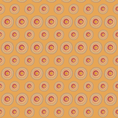 Fiesta Polkadots, Tangerine | alexcolombo.com fabric by studioalex on Spoonflower - custom fabric