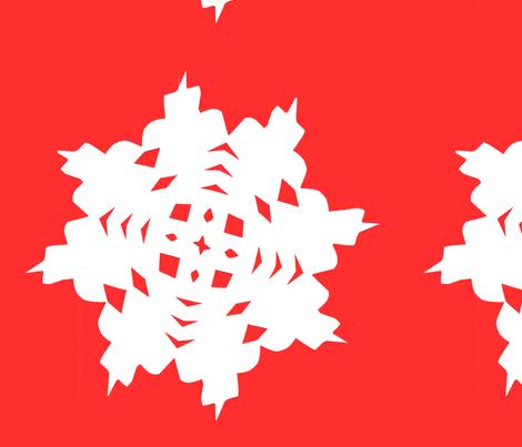 Snowflake fabric by worldwidedeb on Spoonflower - custom fabric