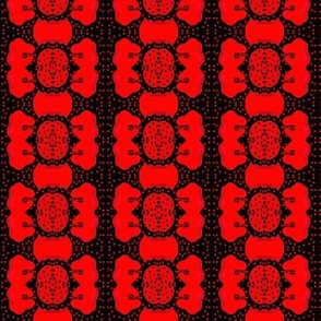 flowers and red dots