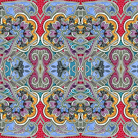 After We Left Calcutta fabric by edsel2084 on Spoonflower - custom fabric
