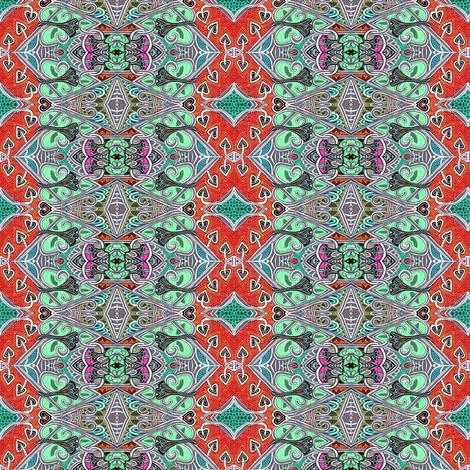 Arrow Highways vertical zig zag stripe fabric by edsel2084 on Spoonflower - custom fabric