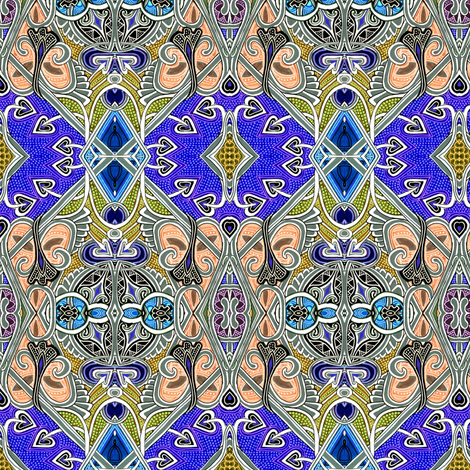 ByzanTeenage Tiles fabric by edsel2084 on Spoonflower - custom fabric
