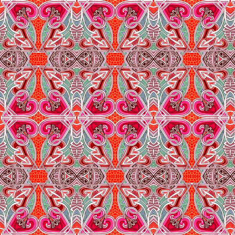 This Way to Deco Love Spades fabric by edsel2084 on Spoonflower - custom fabric