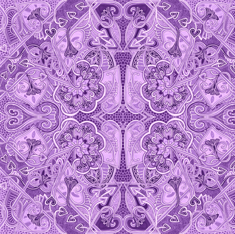For Love of Lavender Girls and Romance fabric by edsel2084 on Spoonflower - custom fabric
