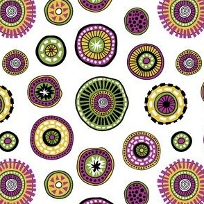 Tribal Aura-Buttons-White