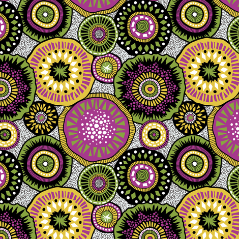 Tribal Aura fabric by groovity on Spoonflower - custom fabric