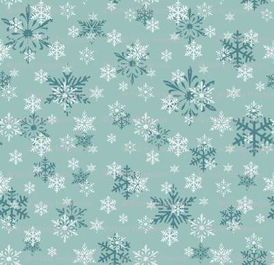 snowflakes dk blue