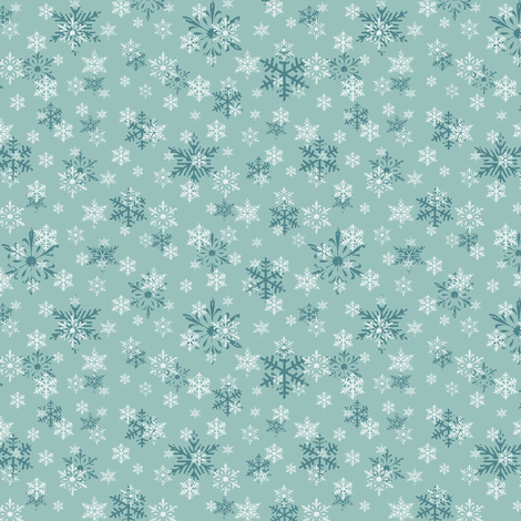 snowflakes dk blue fabric by holly_helgeson on Spoonflower - custom fabric