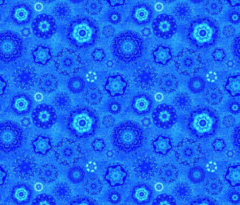 Moody Blue Snow fabric by elarnia on Spoonflower - custom fabric