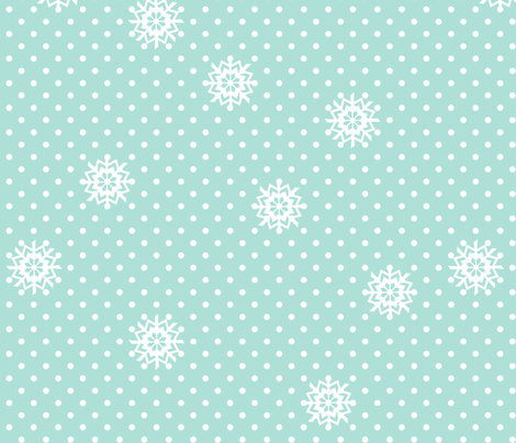 snow___flakes fabric by dempsey on Spoonflower - custom fabric