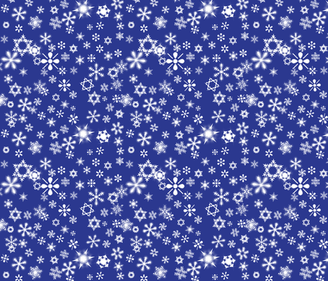 snowflakes2 fabric by wordfabric on Spoonflower - custom fabric