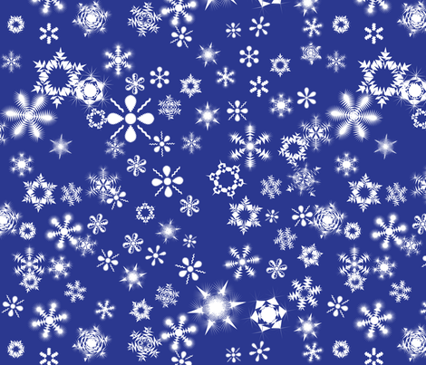snowflakes3 fabric by wordfabric on Spoonflower - custom fabric