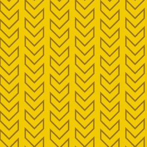 Chevron Tracks_Gold Colorway