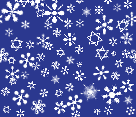 snowflakes6 fabric by wordfabric on Spoonflower - custom fabric