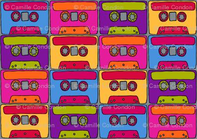 CurlyPops - Technicolour Cassettes grey base