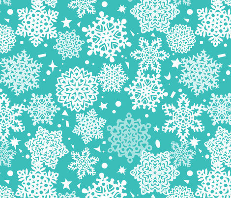 Paper Snowflakes fabric by minimiel on Spoonflower - custom fabric