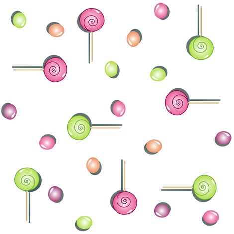 Scattered Sweets on White fabric by smuk on Spoonflower - custom fabric