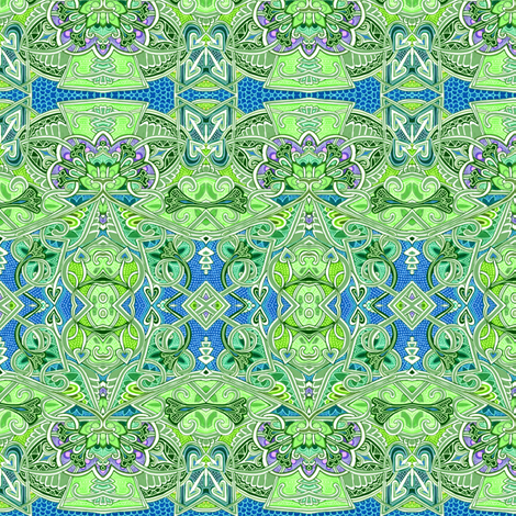 Lacy and Romantic Greenery fabric by edsel2084 on Spoonflower - custom fabric