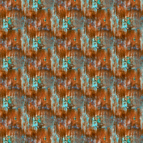 Teal and Orange Rust  fabric by bohobear on Spoonflower - custom fabric